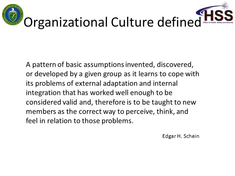 Organizational Culture defined