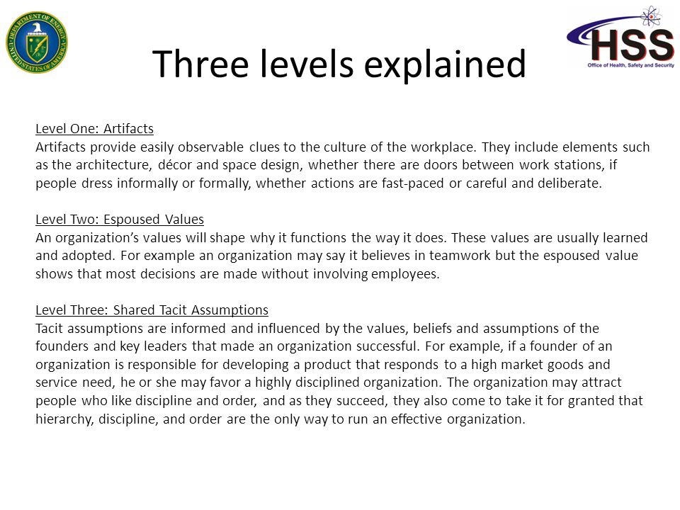 Three levels explained