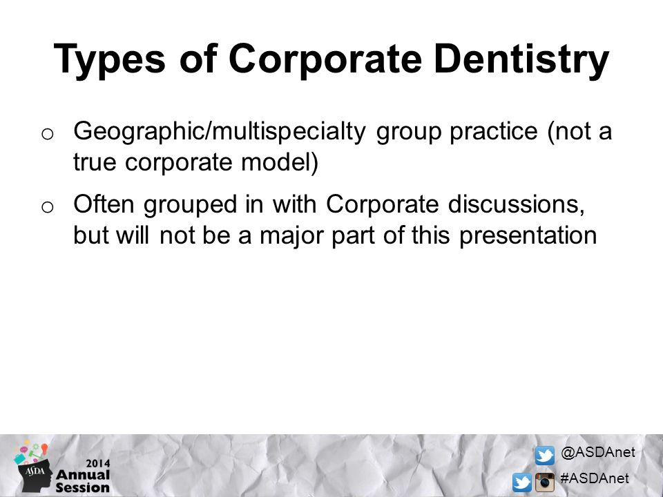 Types of Corporate Dentistry