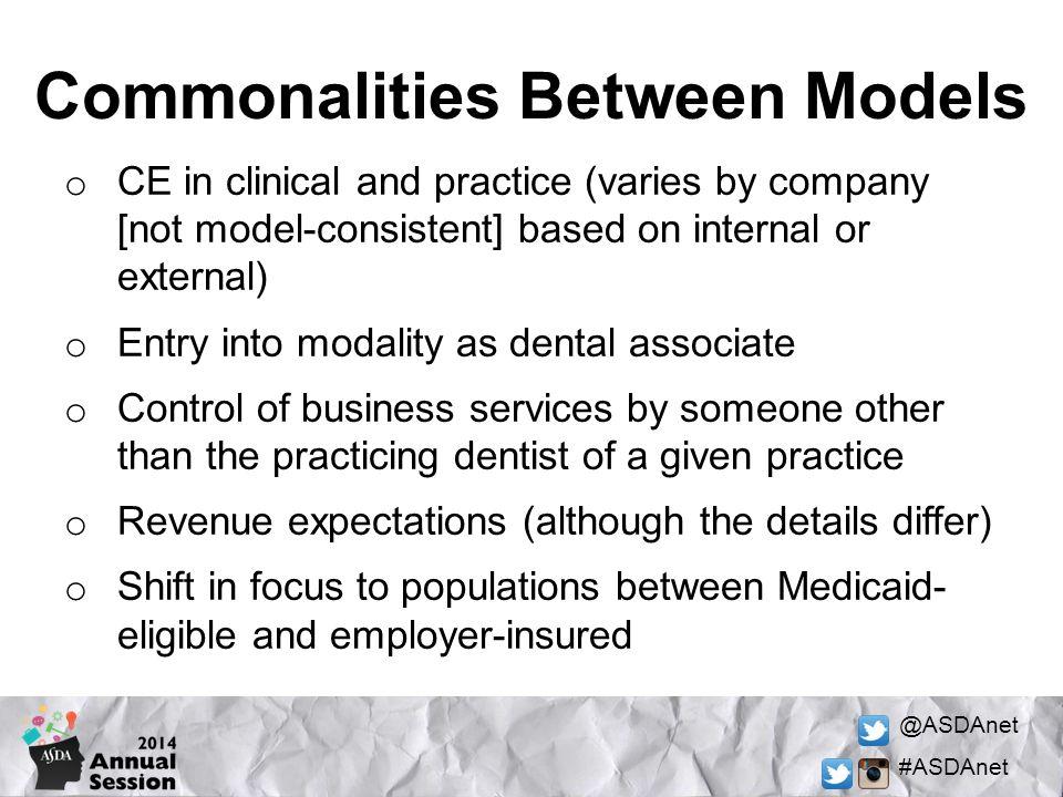 Commonalities Between Models