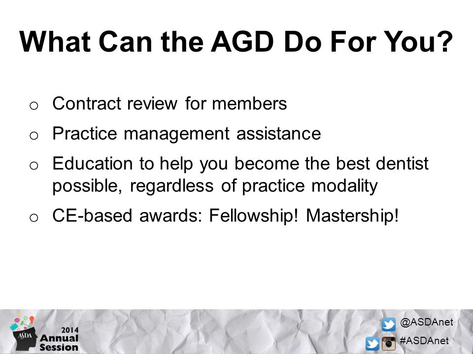 What Can the AGD Do For You