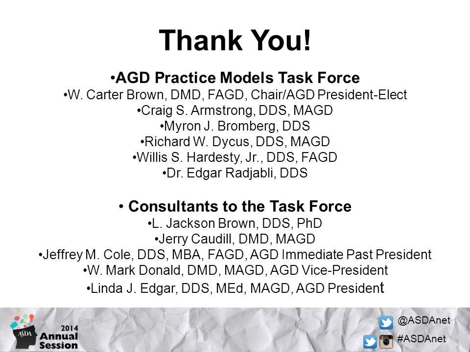AGD Practice Models Task Force