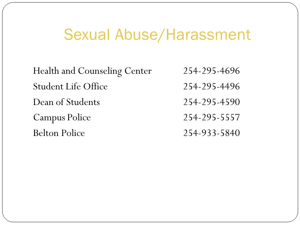 Sexual Abuse/Harassment