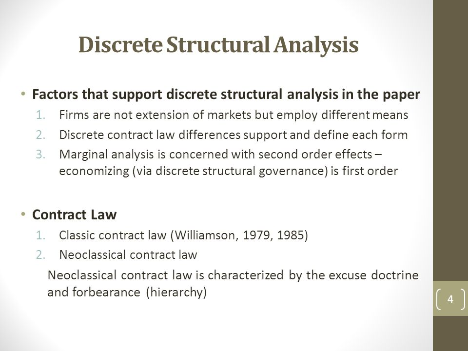 Discrete Structural Analysis