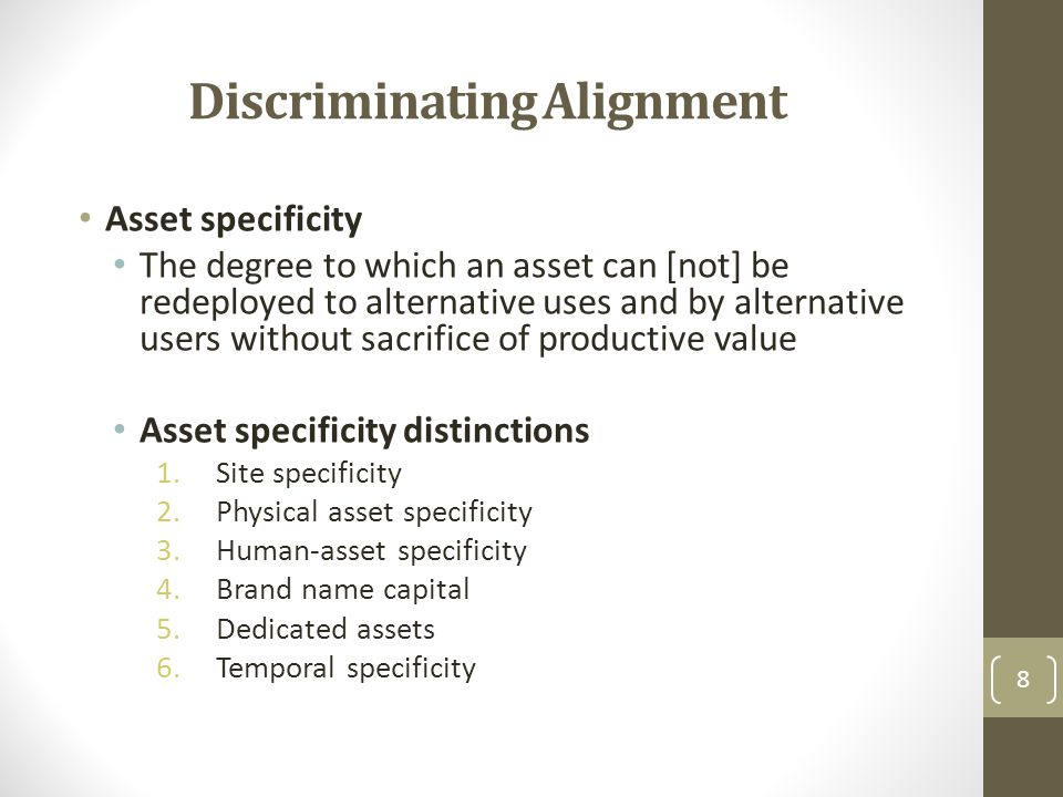 Discriminating Alignment