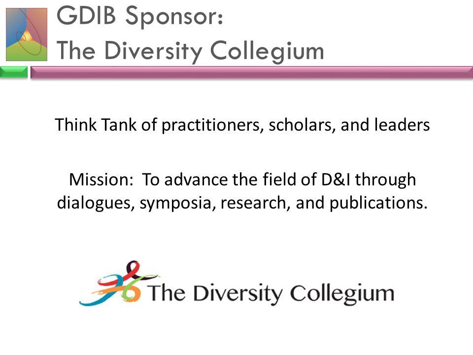 GDIB Sponsor: The Diversity Collegium