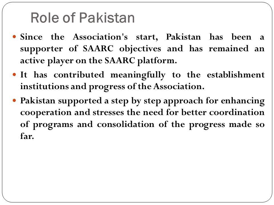 Role of Pakistan