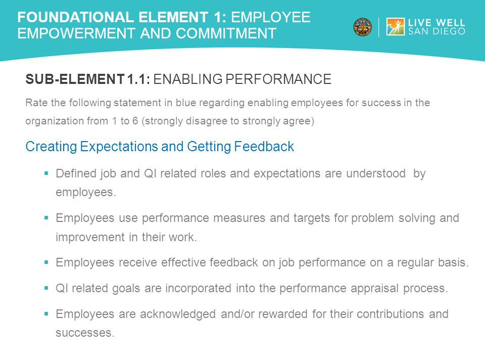 Foundational Element 1: Employee Empowerment and Commitment
