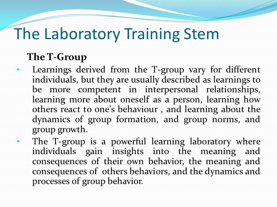The Laboratory Training Stem