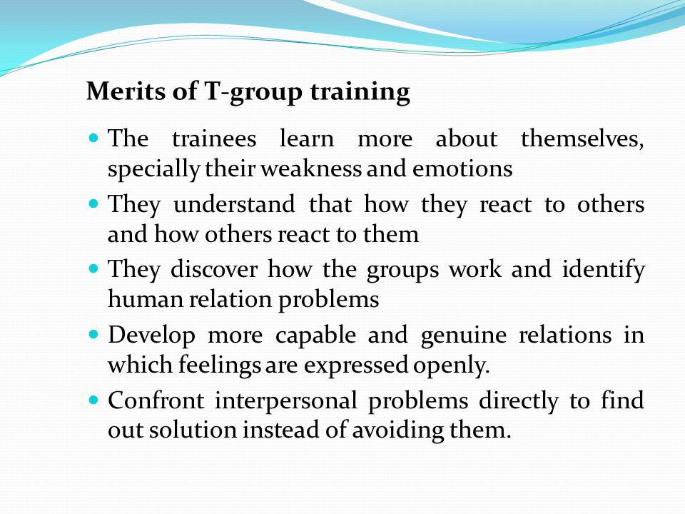 Merits of T-group training