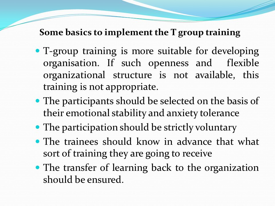 The participation should be strictly voluntary