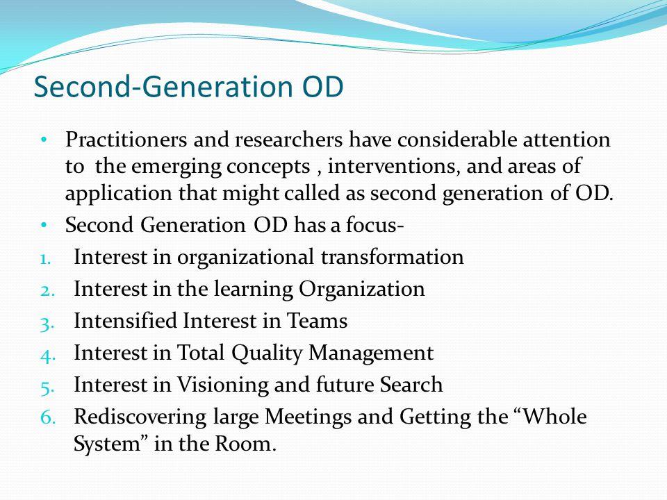 Second-Generation OD