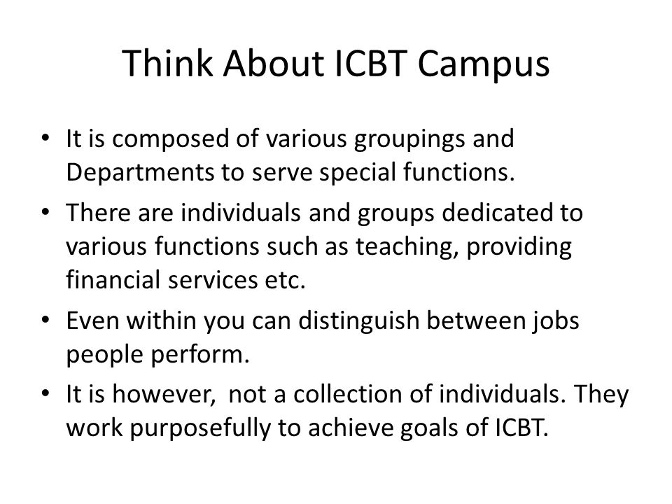 Think About ICBT Campus