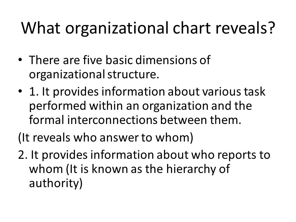 Basic Organization Chart Organizational Structure Definition And