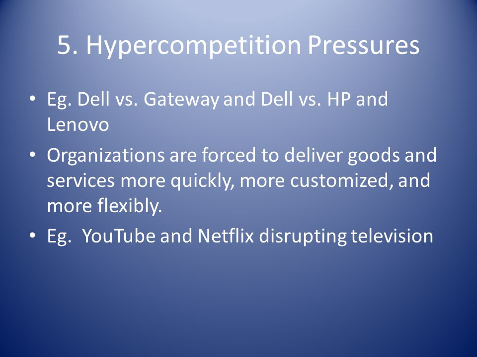 5. Hypercompetition Pressures