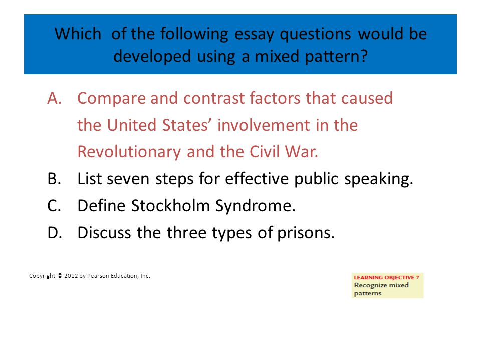 A. Compare and contrast factors that caused