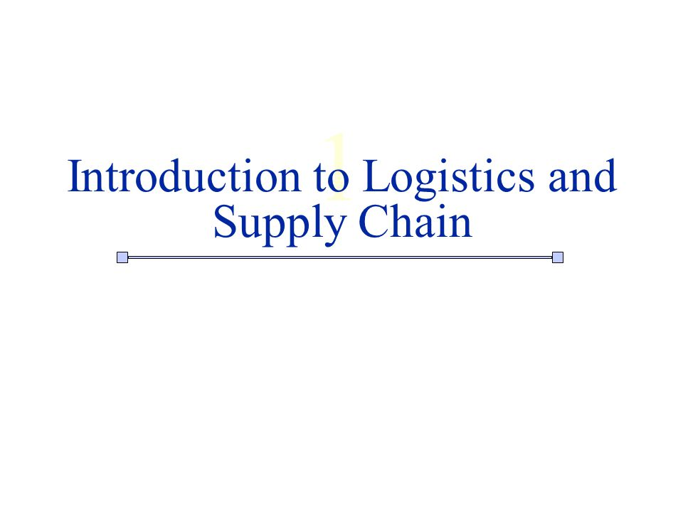 introduction to logistics and supply chain Business logistics management a supply chain perspective third edition wesselj pienaar and john jvogt  introduction 19 logistics linkages with the value chain.