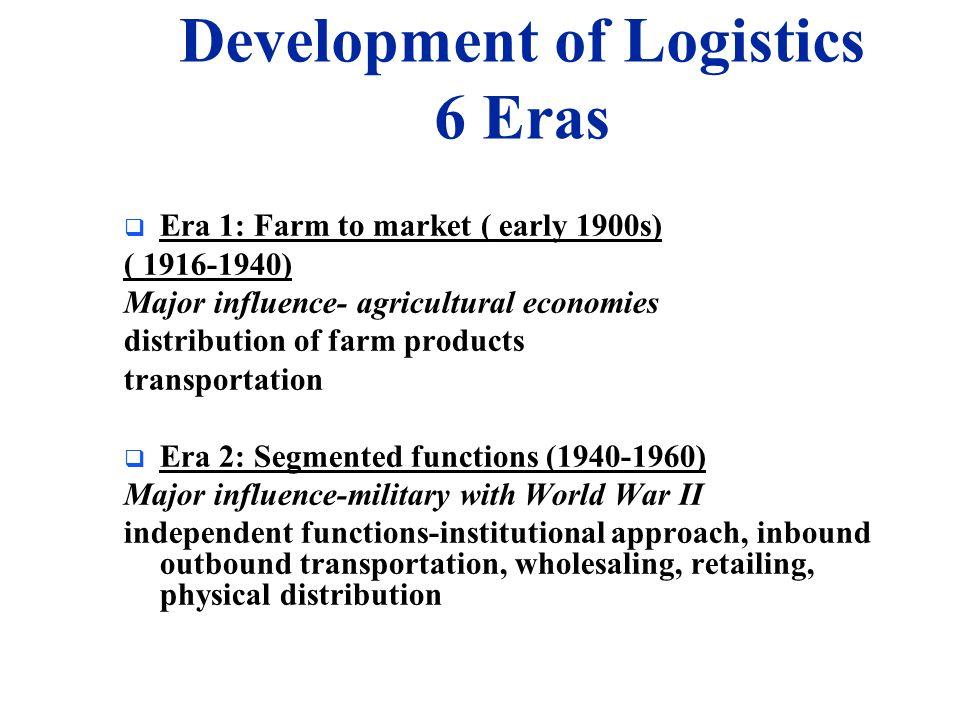Development of Logistics 6 Eras