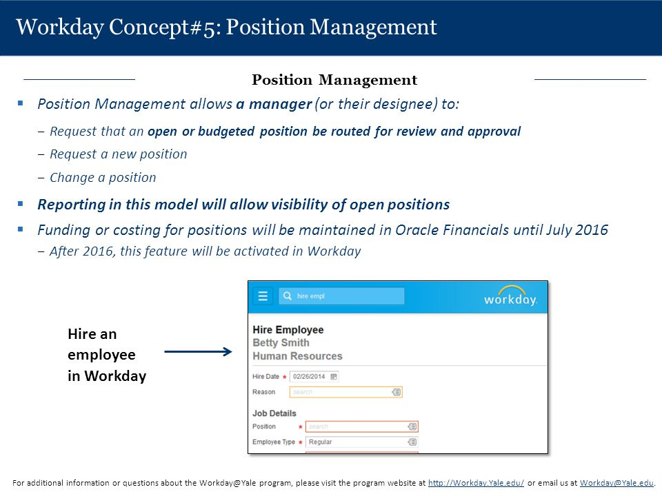Workday Concept#5: Position Management