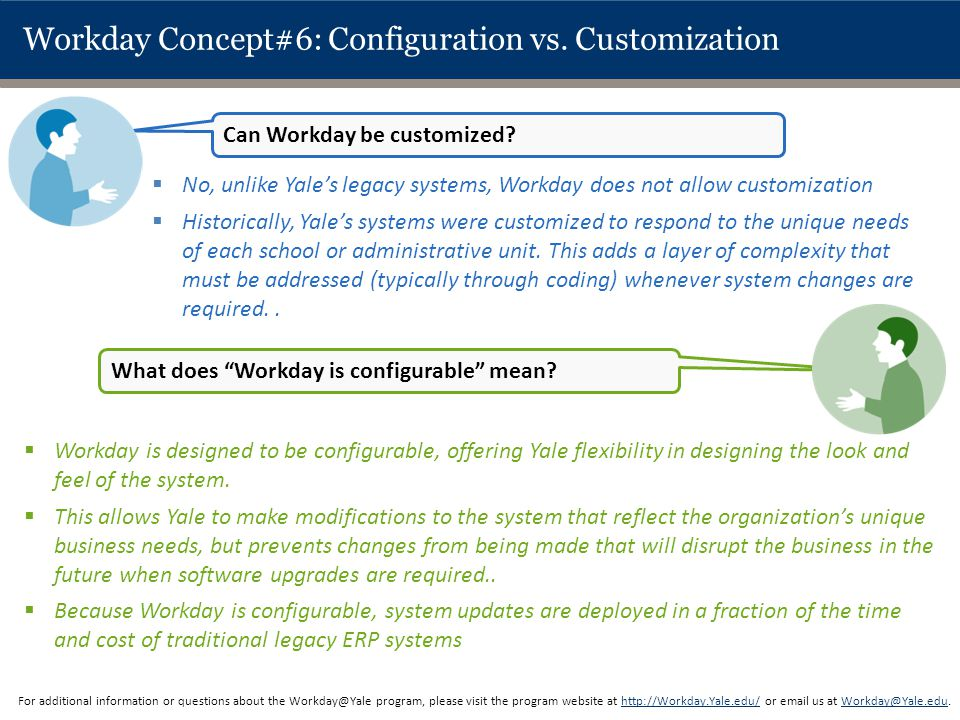 Workday Concept#6: Configuration vs. Customization
