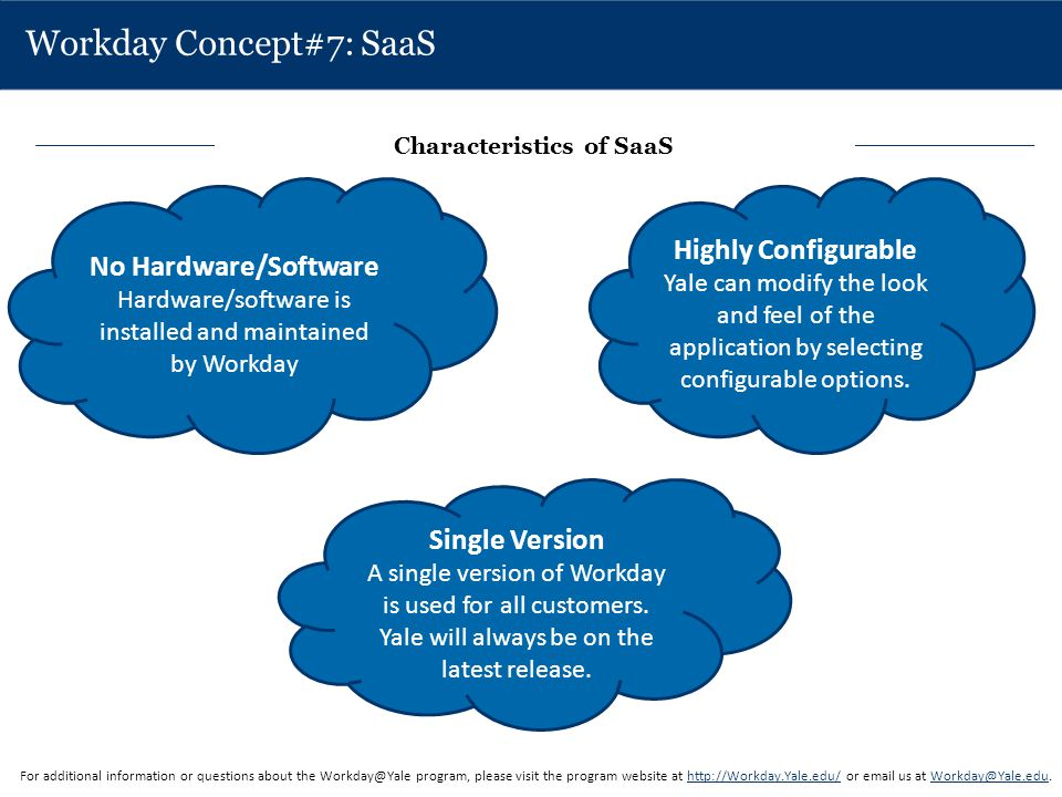 Workday Concept#7: SaaS