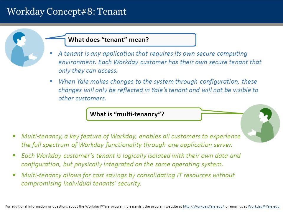 Workday Concept#8: Tenant