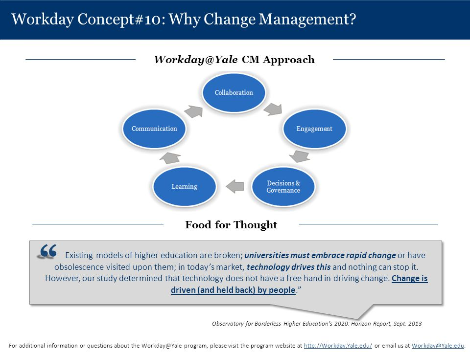 Workday Concept#10: Why Change Management