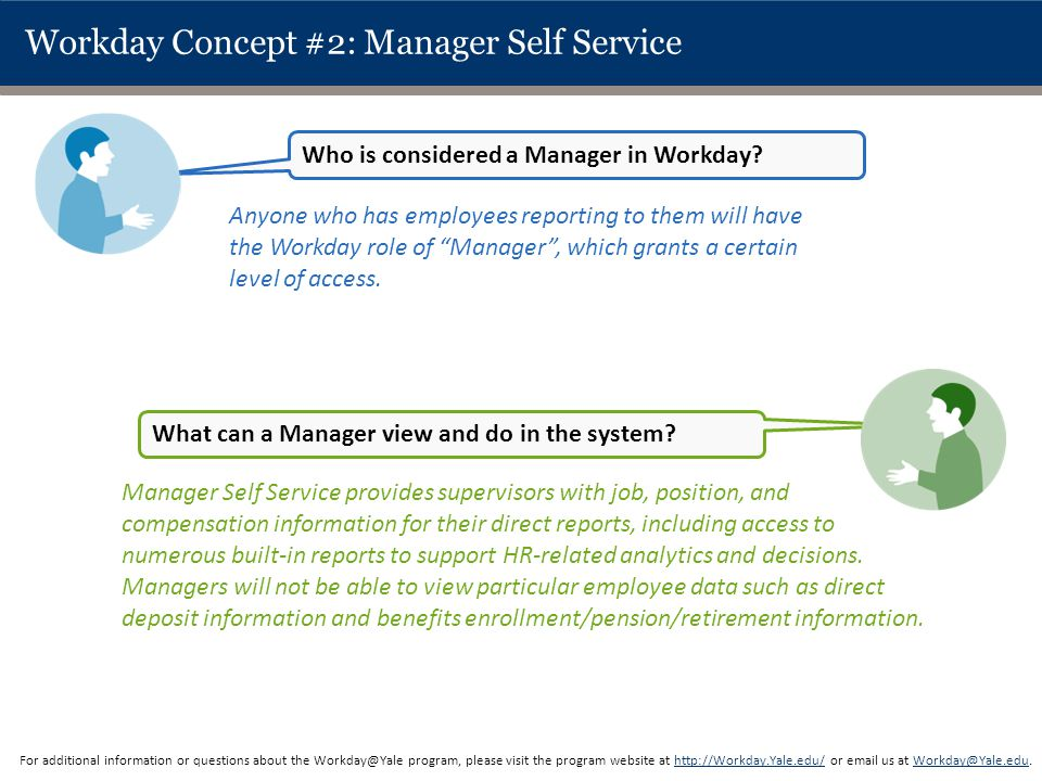 Workday Concept #2: Manager Self Service