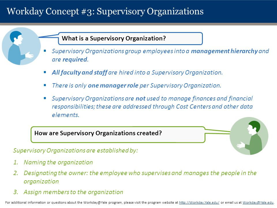 Workday Concept #3: Supervisory Organizations