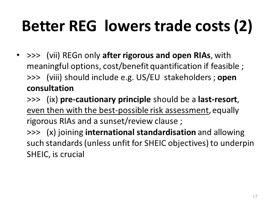 Better REG lowers trade costs (2)