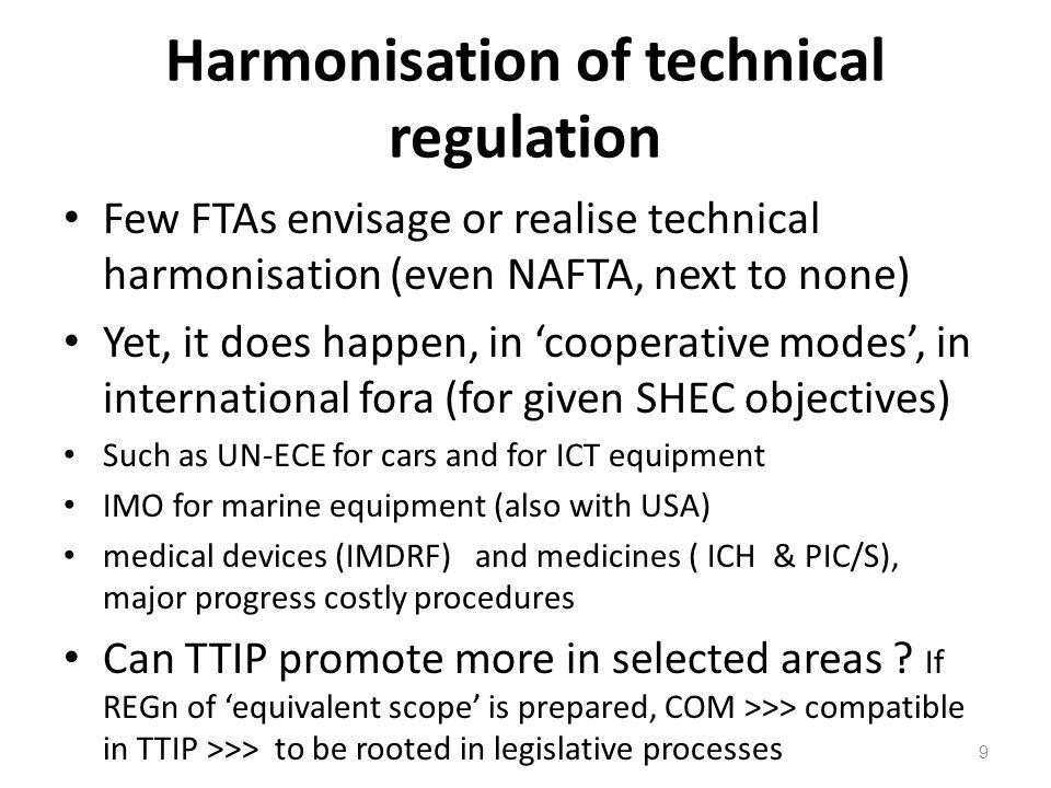 Harmonisation of technical regulation