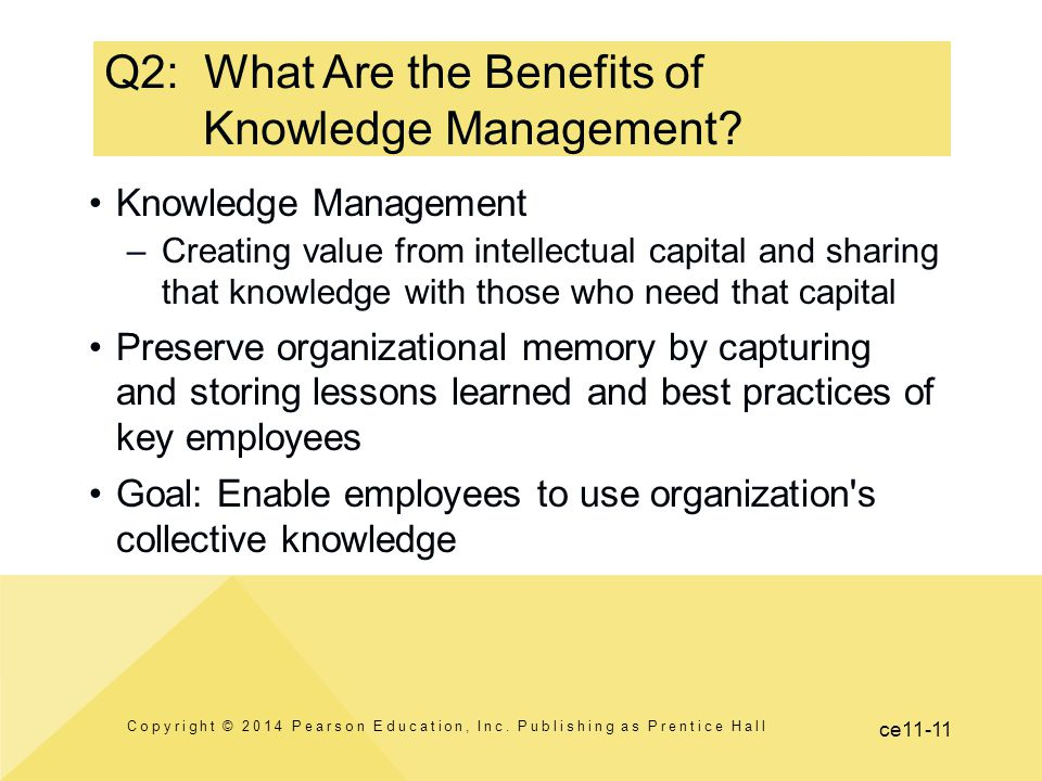 Q2: What Are the Benefits of Knowledge Management