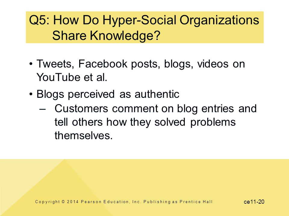 Q5: How Do Hyper-Social Organizations Share Knowledge