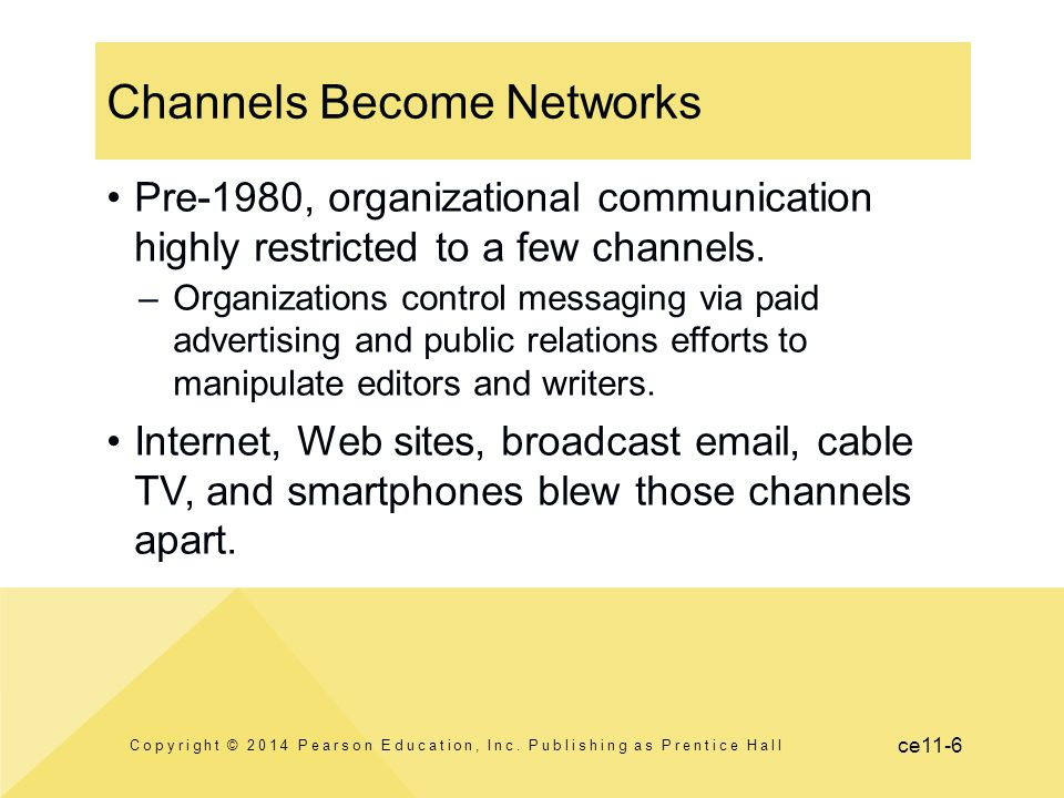 Channels Become Networks