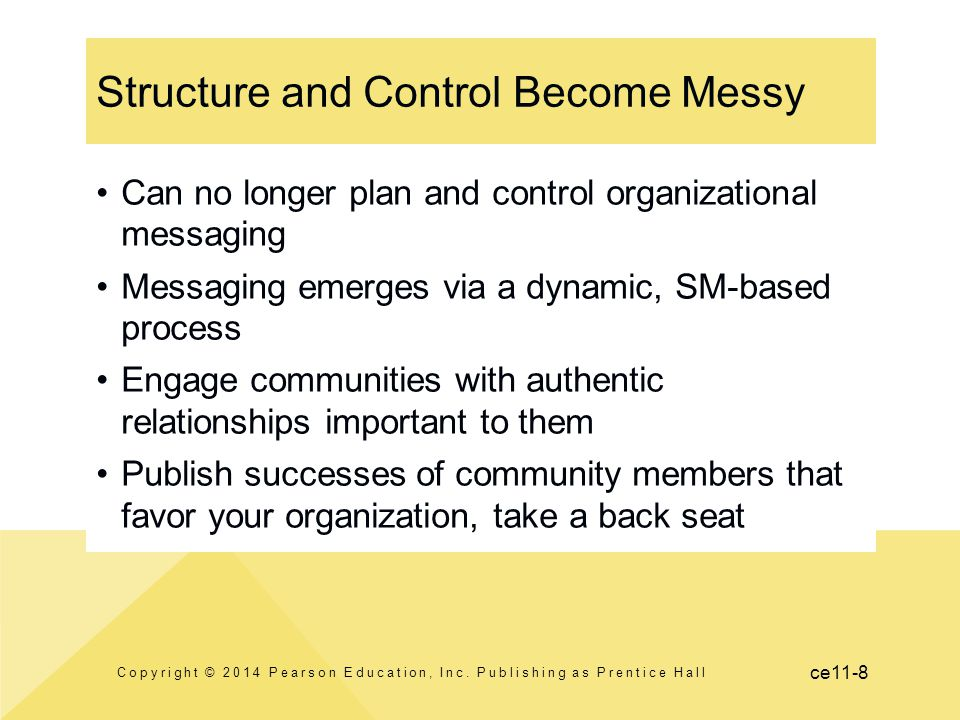 Structure and Control Become Messy
