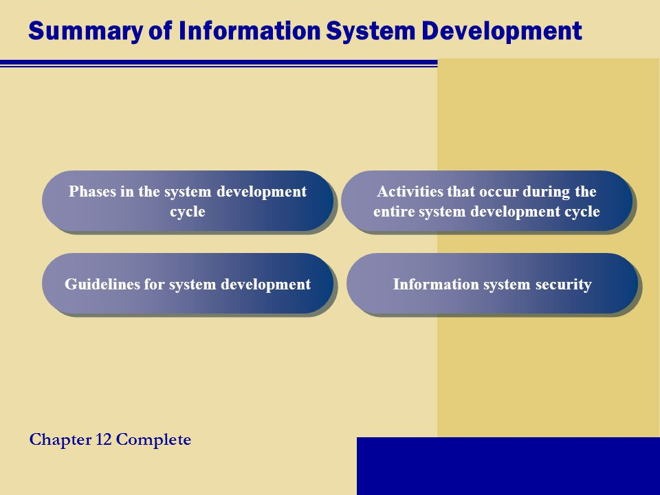 Summary of Information System Development