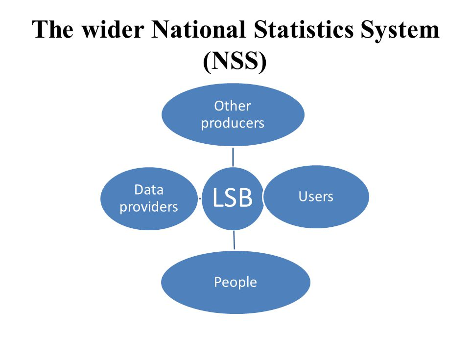 The wider National Statistics System (NSS)