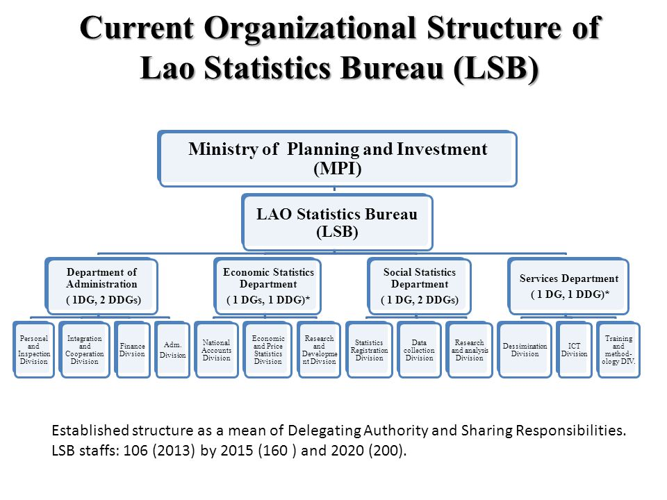 Current Organizational Structure of Lao Statistics Bureau (LSB)