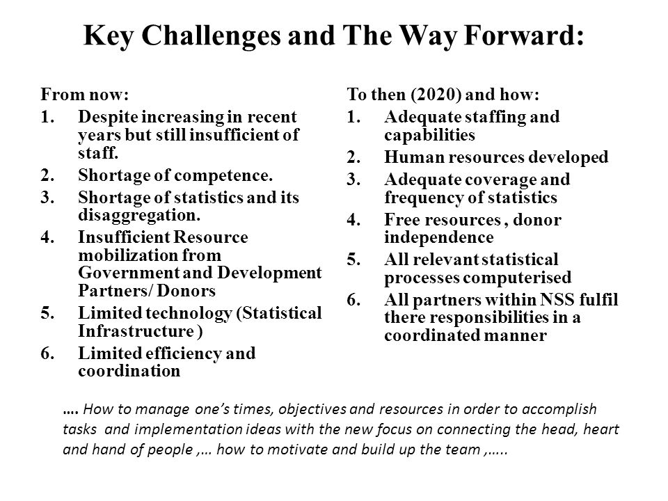 Key Challenges and The Way Forward: