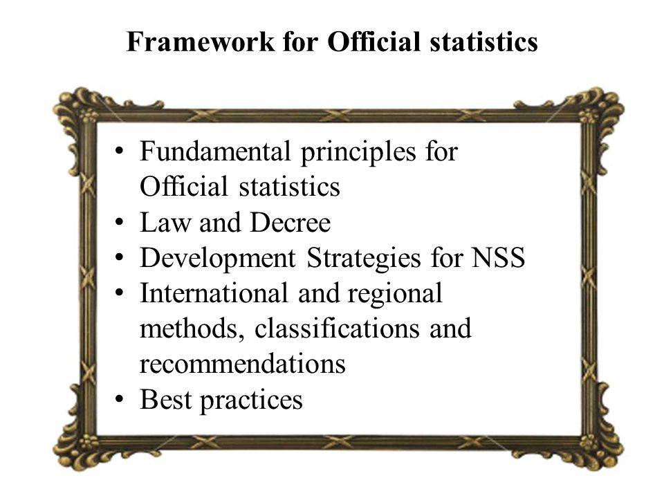 Framework for Official statistics