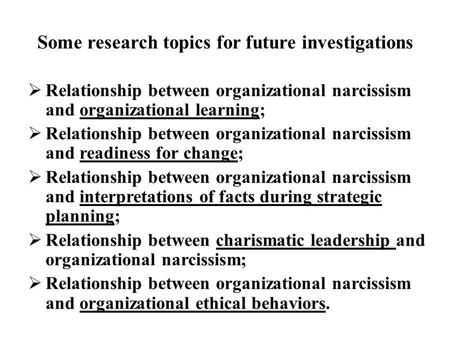 Some research topics for future investigations