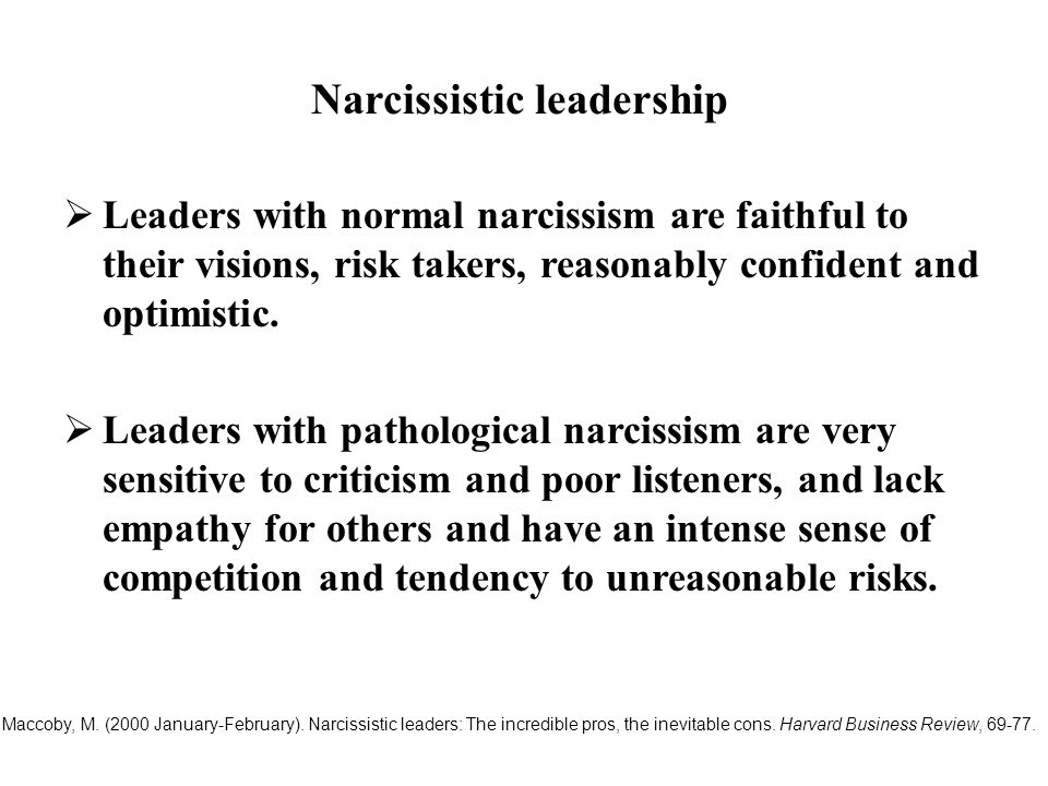 Narcissistic leadership