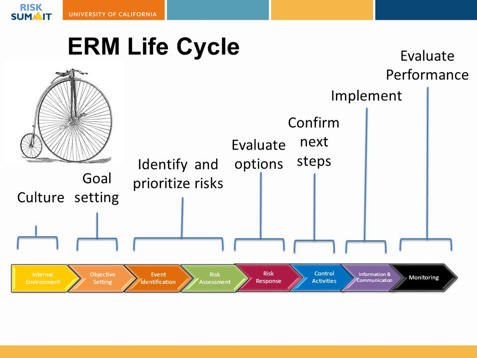ERM Life Cycle Evaluate Performance Implement Confirm next steps