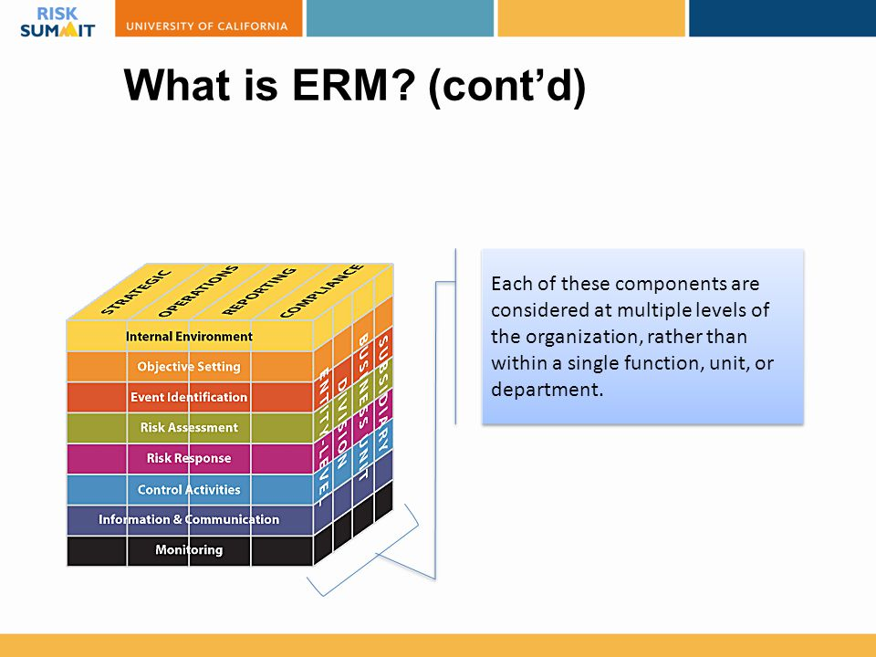 What is ERM (cont'd)