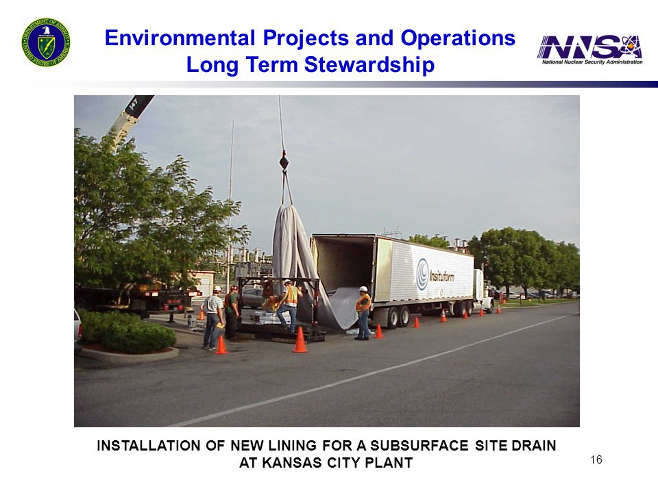Environmental Projects and Operations Long Term Stewardship