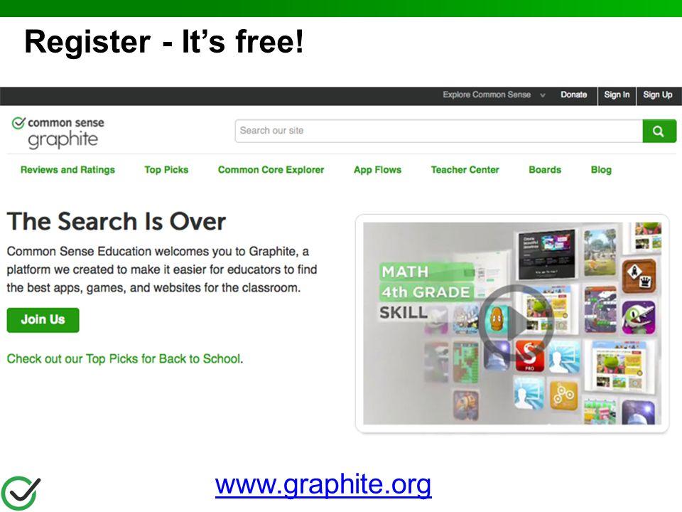 Register - It's free! www.graphite.org