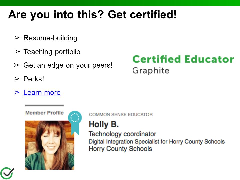Are you into this Get certified!