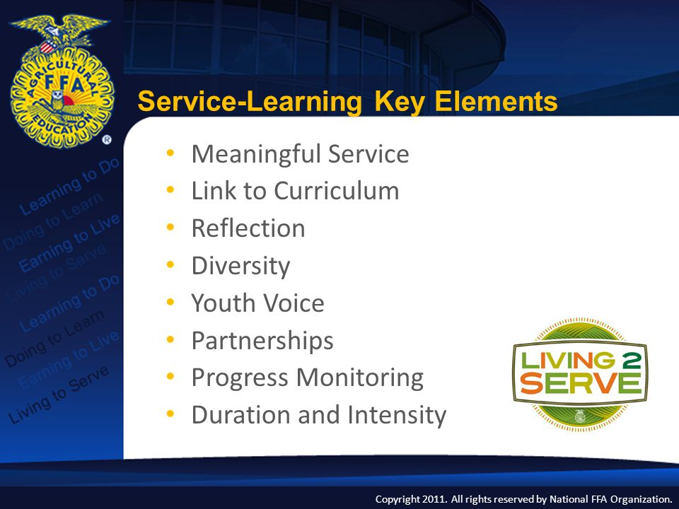 Service-Learning Key Elements