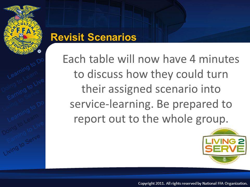 Revisit Scenarios