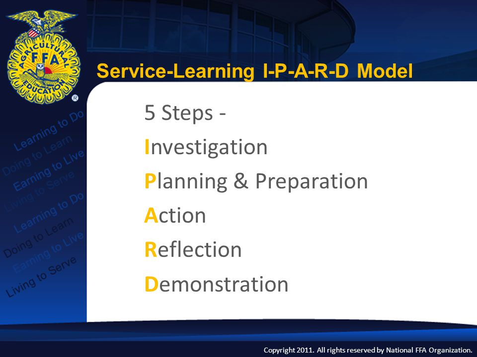 Service-Learning I-P-A-R-D Model